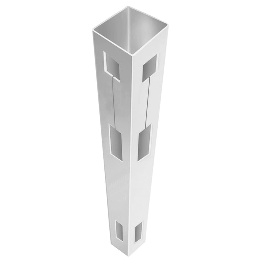 Freedom (Common: 5-in x 5-in x 9-ft; Actual: 5-in x 5-in x 9-ft) Ready-to-Assemble White Vinyl Fence Corner Post