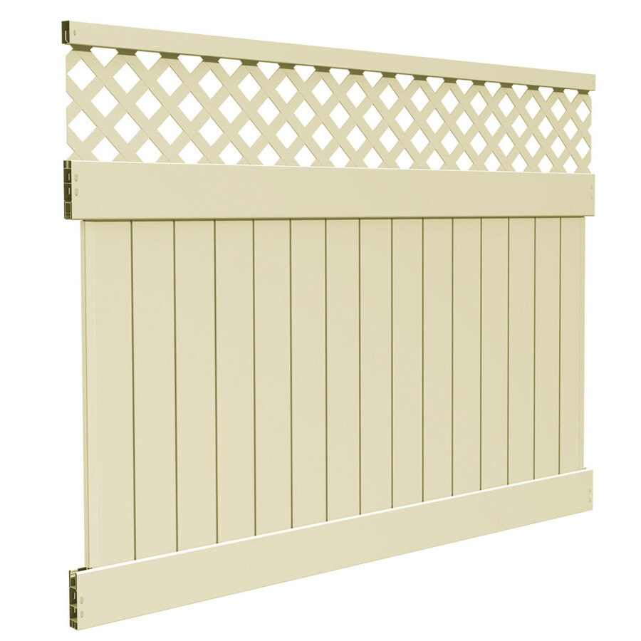 Freedom (Common: 6-ft x 8-ft; Actual: 5.83-ft x 7.83-ft) Ready-to-Assemble Conway Sand Semi-Privacy Vinyl Fence Panel