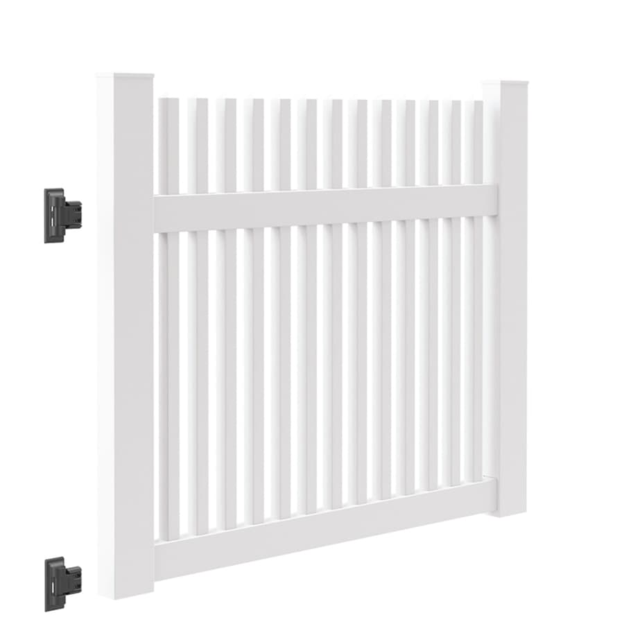 Freedom (Common: 4-ft x 5-ft; Actual: 4-ft x 4.83-ft) Carlisle White Vinyl Fence Gate