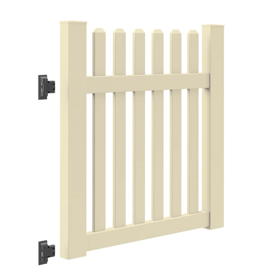 Freedom (Common: 4-ft x 4-ft; Actual: 4-ft x 3.83-ft) Coventry Sand Vinyl Gate