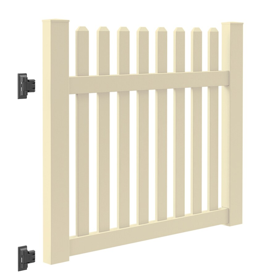 Freedom (Common: 4-ft x 5-ft; Actual: 4-ft x 4.83-ft) Coventry Sand Vinyl Gate