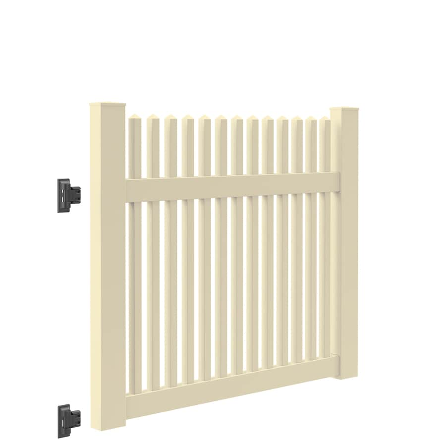 Freedom (Common: 4-ft x 5-ft; Actual: 4-ft x 4.83-ft) Carlisle Sand Vinyl Fence Gate