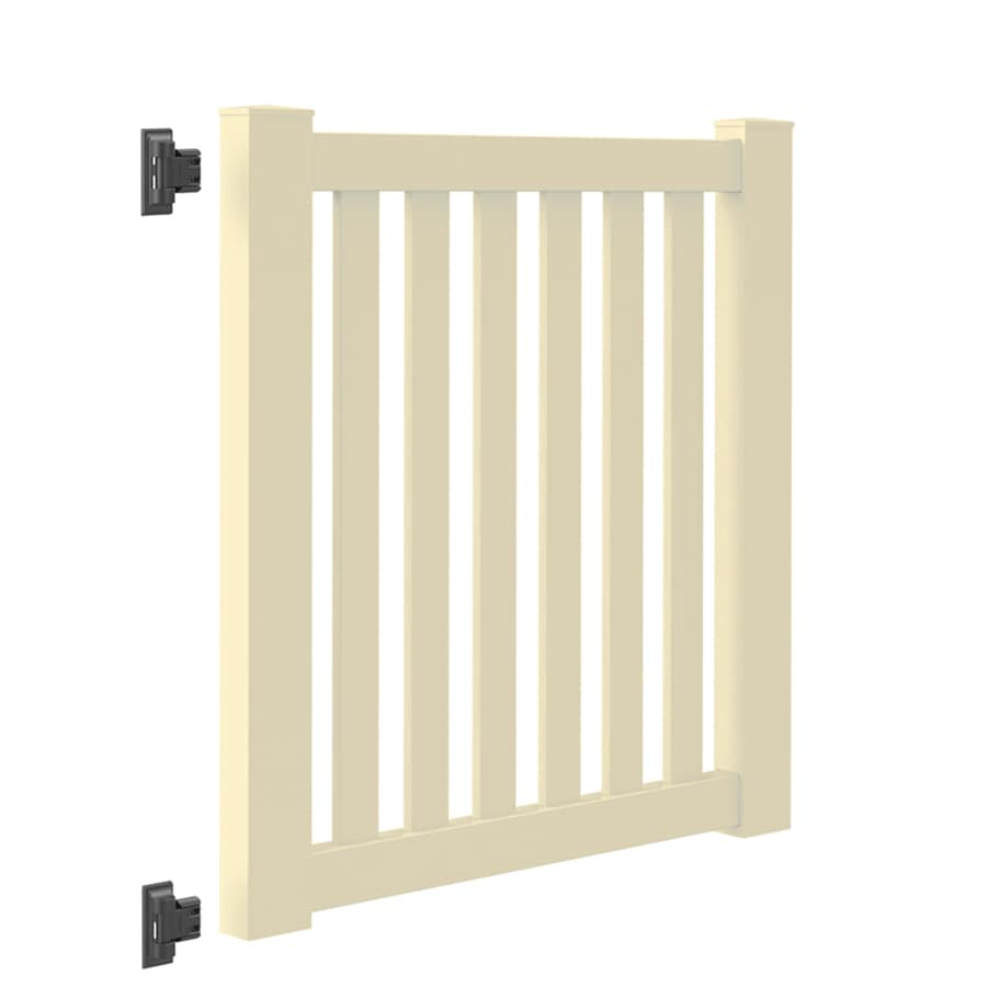 Freedom (Common: 4-ft x 4-ft; Actual: 3.84-ft x 3.84-ft) Durham Sand Vinyl Gate