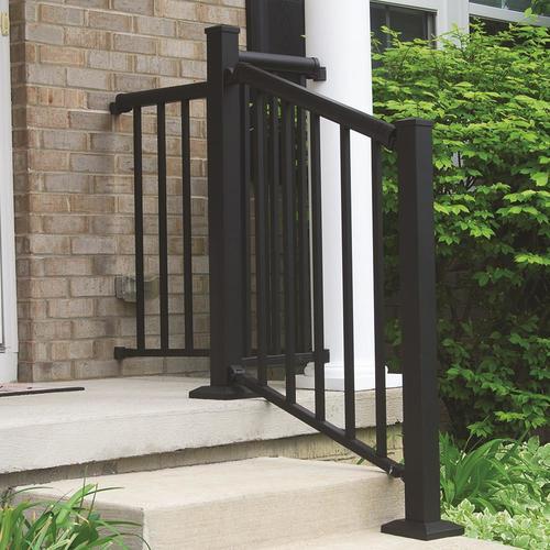 Freedom Winchester Matte Black Aluminum Deck Stair Rail ...
