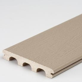 Freedom 16-ft Sandstone Grooved Composite Deck Board at