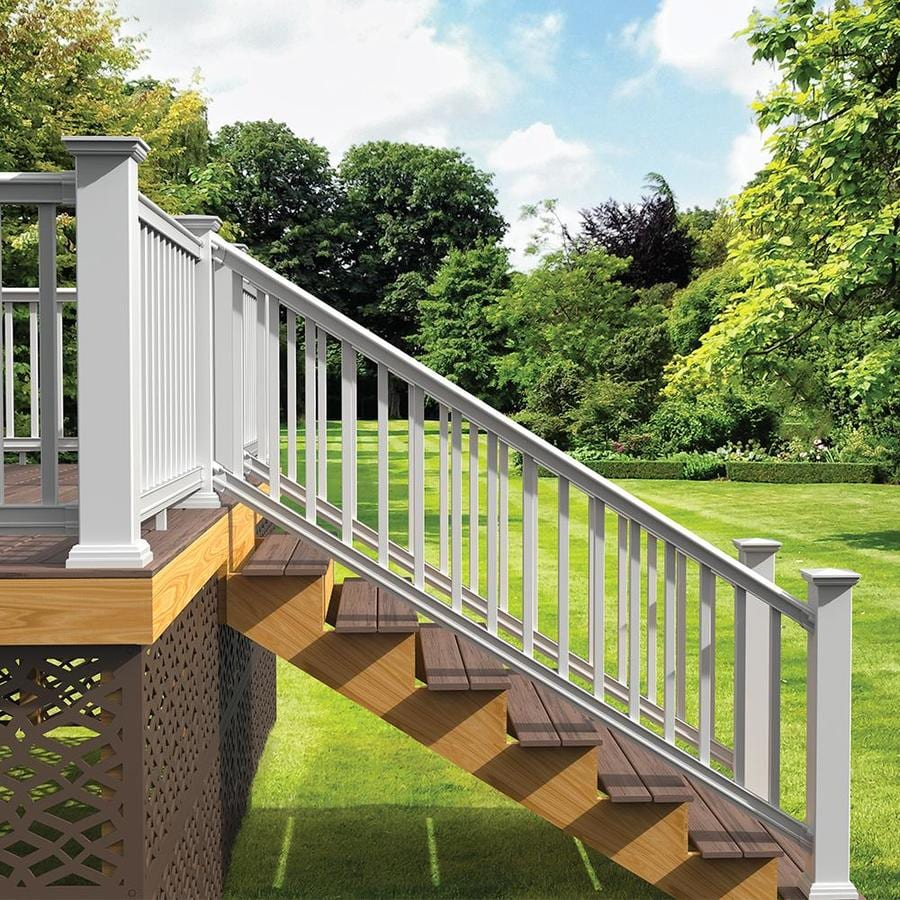 Safe Deck Railings Stairs: Freedom (Assembled: 8-ft X 3-ft) Prescot Stair White PVC