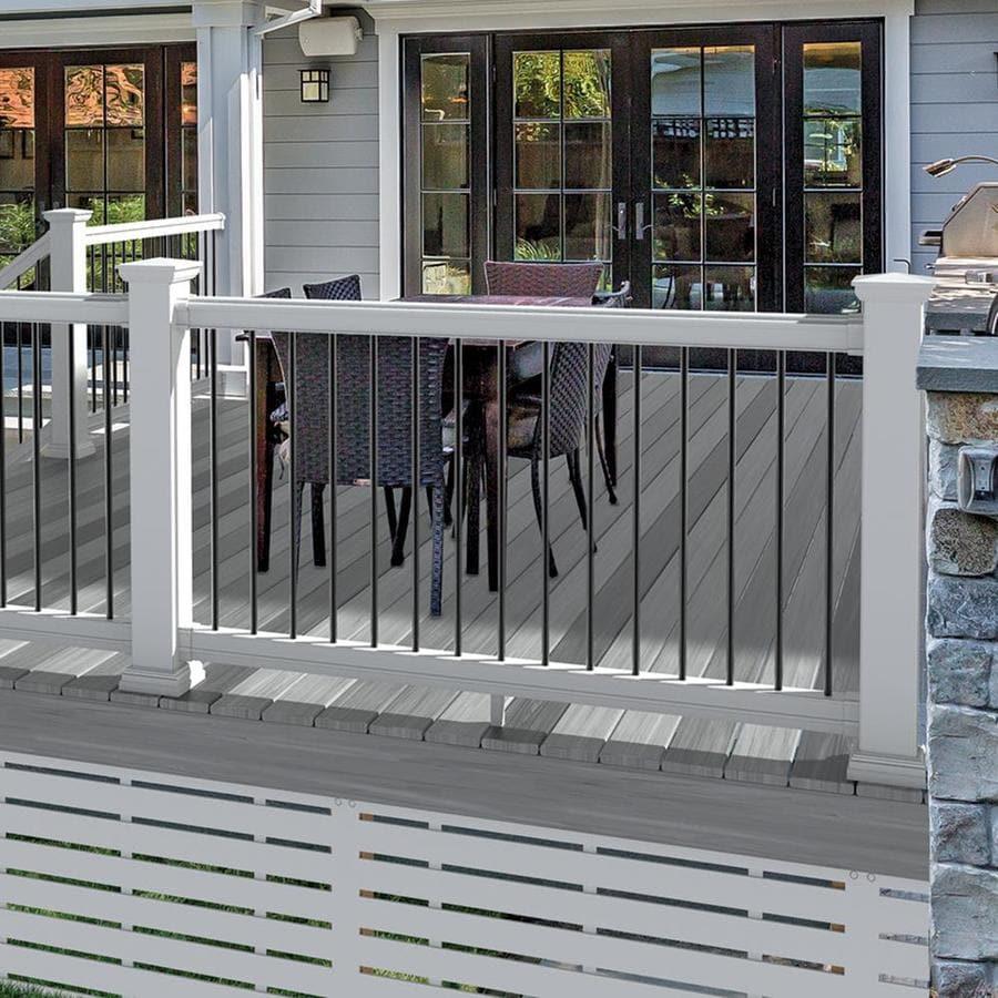 Freedom (Assembled: 8-ft x 3-ft) Prescot White PVC Deck ...