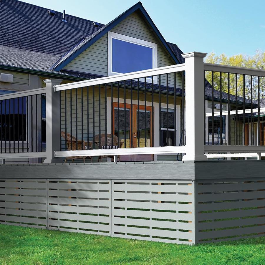 Freedom (Assembled: 10-ft x 3-ft) Prescot White PVC Deck ...