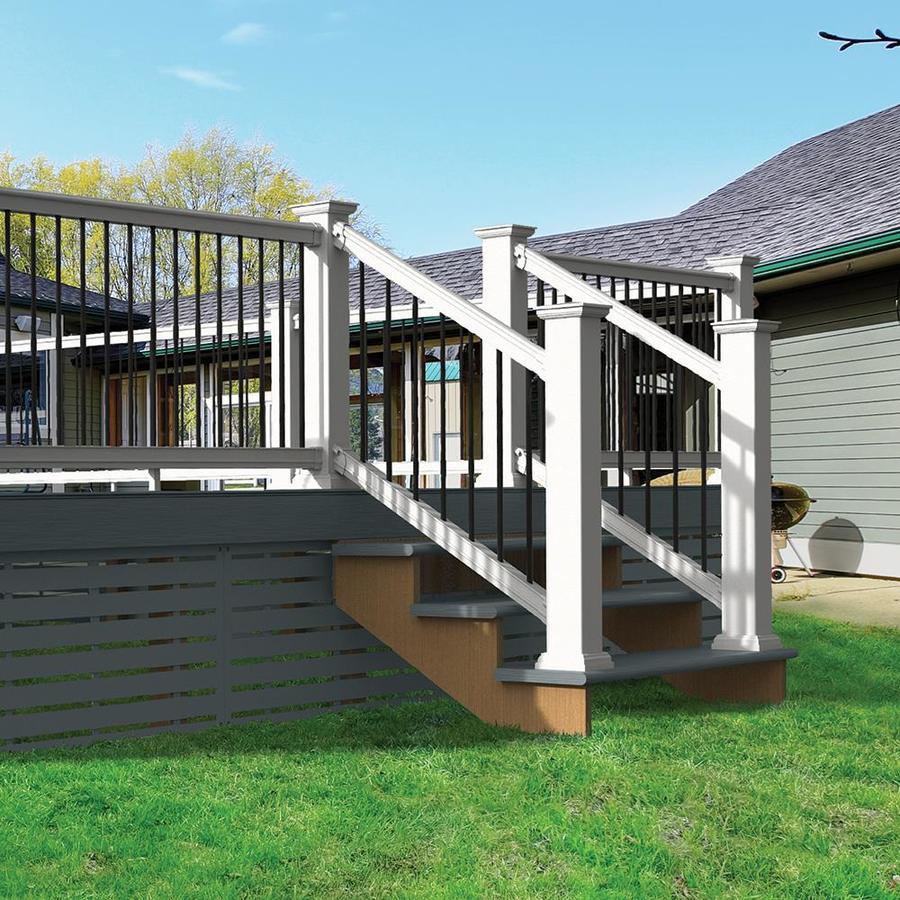 Freedom (Assembled: 6-ft x 3-ft) Prescot Stair White PVC ...