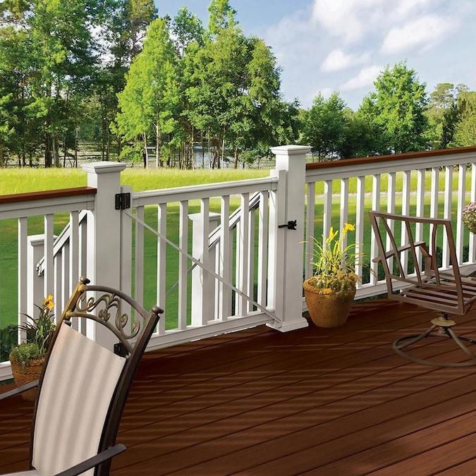 Freedom Prescot 48-in L x 42-in H White PVC Deck Railing ...