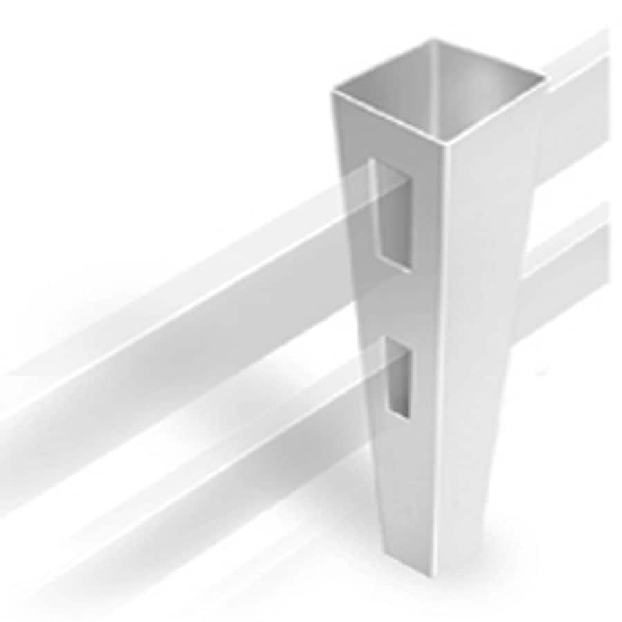 Freedom Ready-To-Assemble White Vinyl Fence Line Post (Common: 4-3/4-in x 4-3/4-in x 6-ft; Actual: 4.75-in x 4.75-in x 5.66-ft)