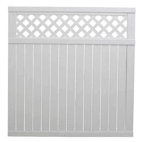 Shop freedom white privacy lattice top vinyl fence
