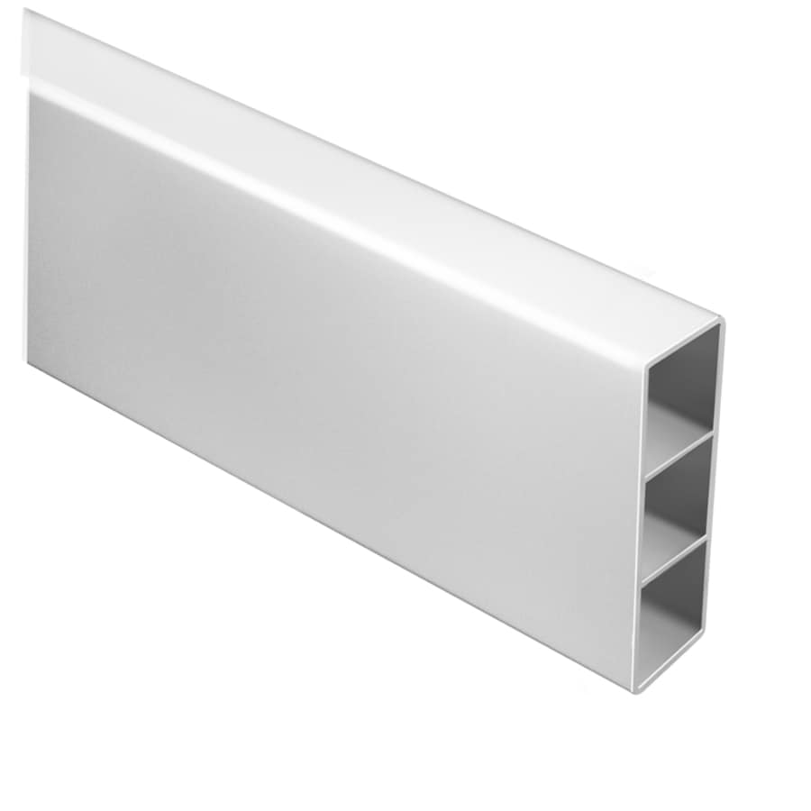 Freedom Ready-to-Assemble White Vinyl Fence Rail (Common: 2-in x 5-in x 8-ft; Actual: 1.75-in x 5.25-in x 8-ft)