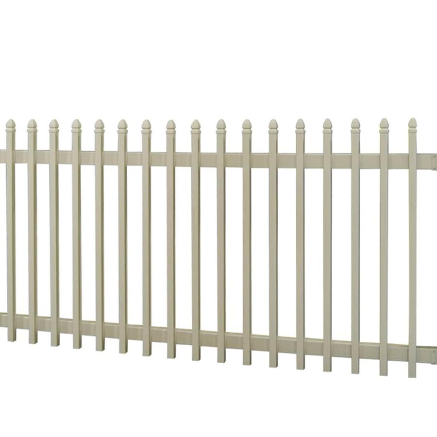 Barrette Select 4-ft x 8-ft Desert Sand Gothic Picket Vinyl Fence Panel