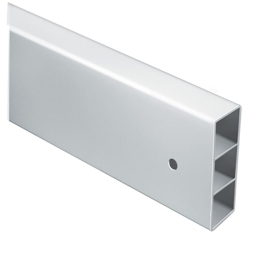 Shop Ready-to-Assemble White Vinyl Fence Rail (Common: 2-in x 5-in x ...
