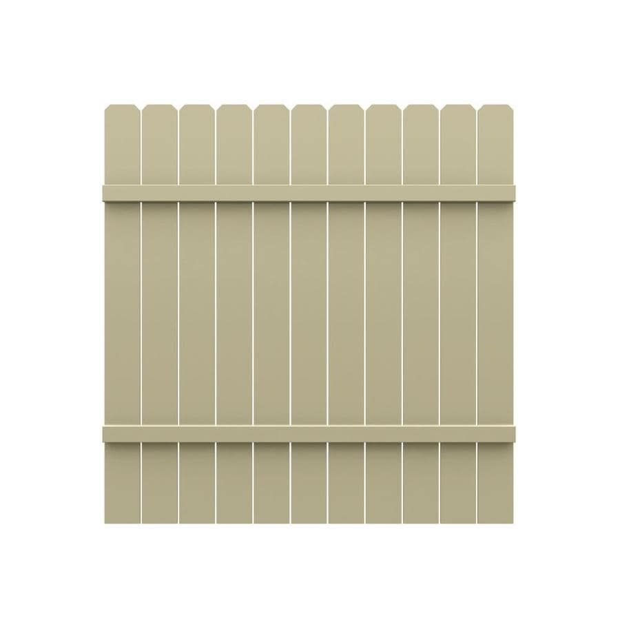 Freedom (Common: 6-ft x 6-ft; Actual: 5.83-ft x 5.68-ft) Pre Assembled All American Dogear Desert Sand Vinyl Semi-privacy Fence Panel