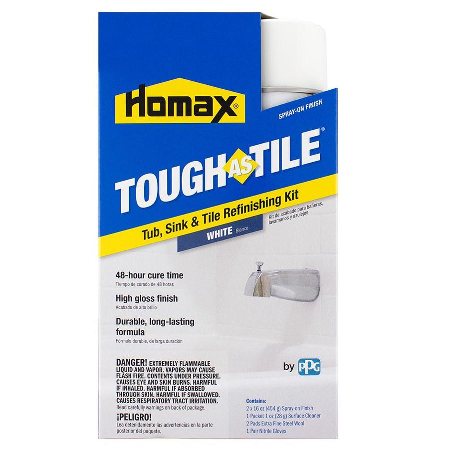 Refinish Countertop Paint Lowes : Countertop refinishing kit lowe s - Tough As Tile White High Gloss Tub ...