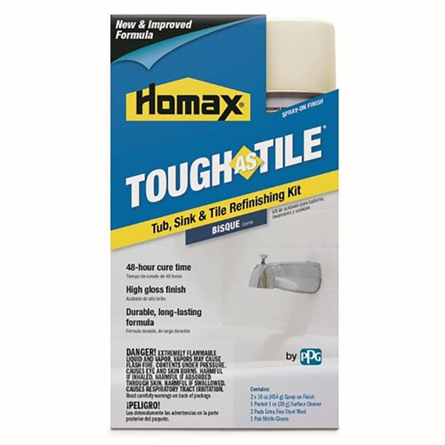 Shop tough as tile bisque gloss tub and tile resurfacing kit tough as tile bisque gloss tub and tile resurfacing kit actual net contents 32 dailygadgetfo Gallery