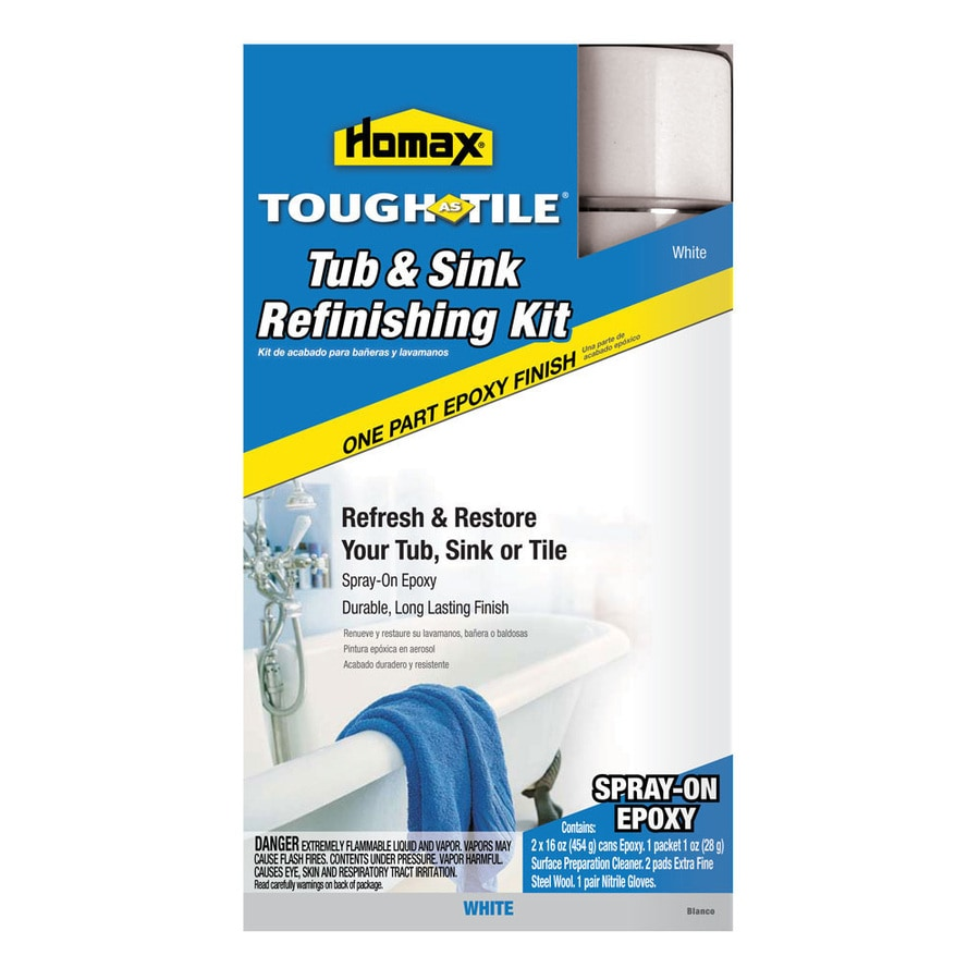 Shop Homax White Tub And Tile Resurfacing Kit At Lowes.com