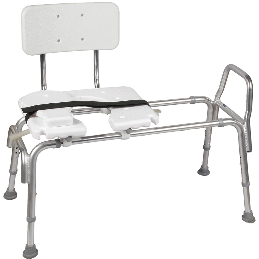 Shop Dmi White Plastic Freestanding Transfer Bench At