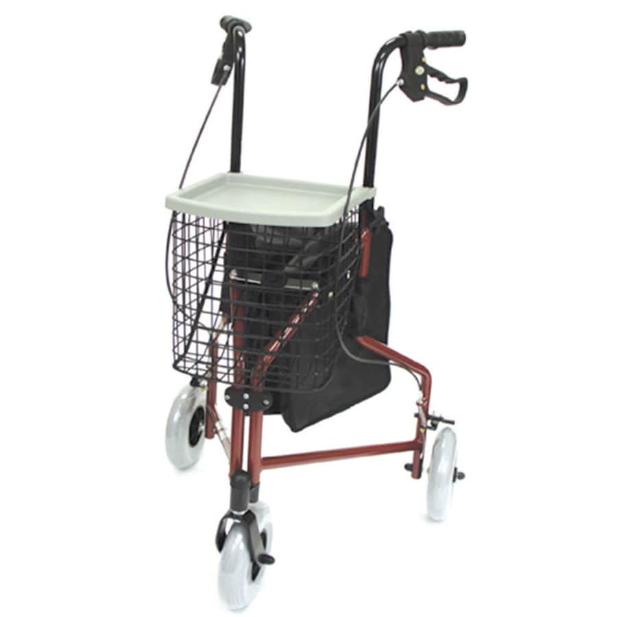 DMI Black/Red Fold-Up/Easy Storage Rollator