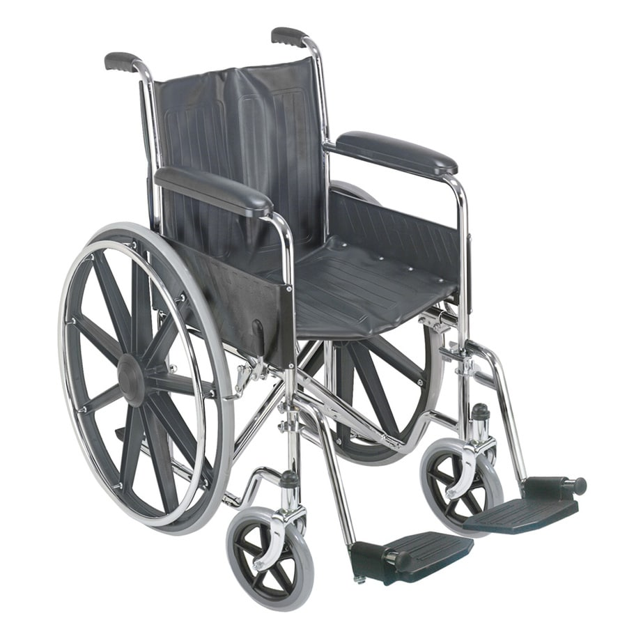 Shop Dmi Silver Fold Up Easy Storage Wheelchair At Lowes Com