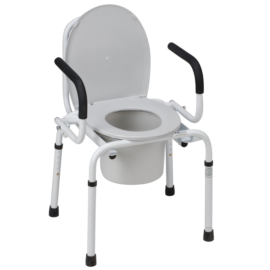DMI 23-in 8-Quart Adjustable Bedside Commode