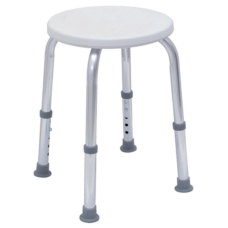 Shop DMI White/Chrome Plastic Freestanding Shower Seat at Lowes.com