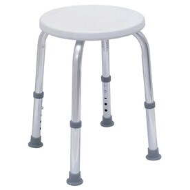 dmi whitechrome plastic shower seat