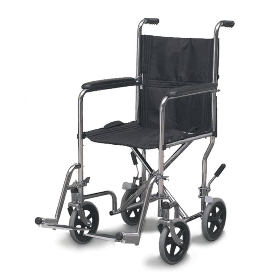 DMI Chrome Fold-Up/Easy Storage Transport Chair