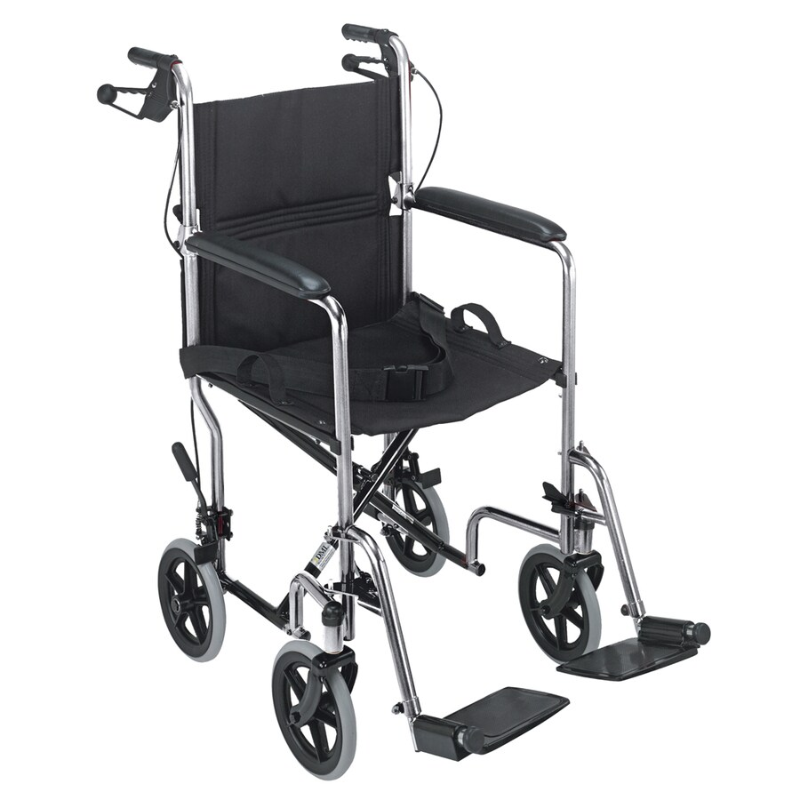 DMI Chrome Fold-Up/Easy Storage Transport Chair