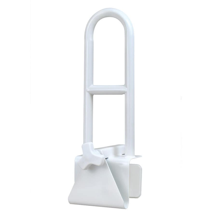 HealthSmart 6.25-in White Wall Mount Grab Bar