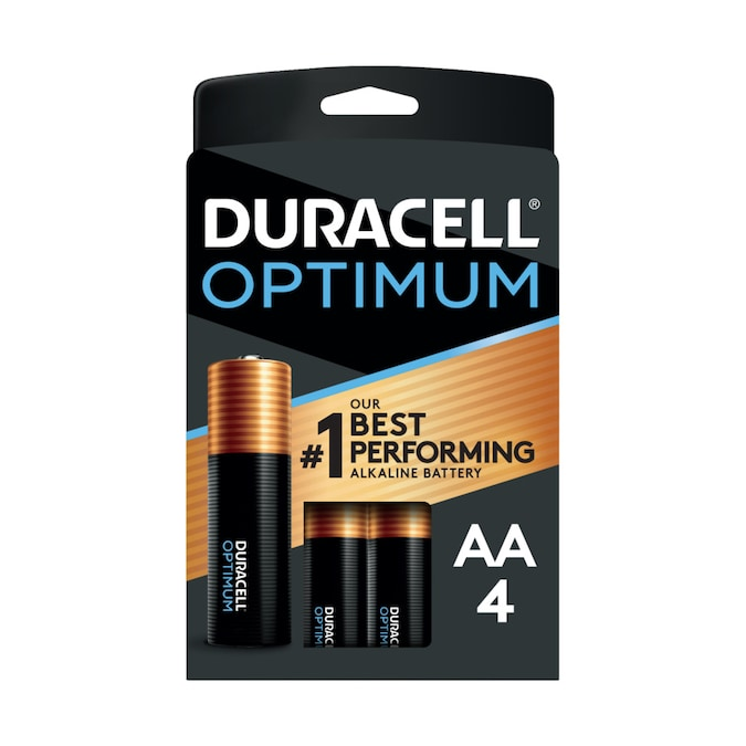 Duracell Optimum Alkaline Aa Batteries 4 Pack In The Aa Batteries Department At Lowes Com
