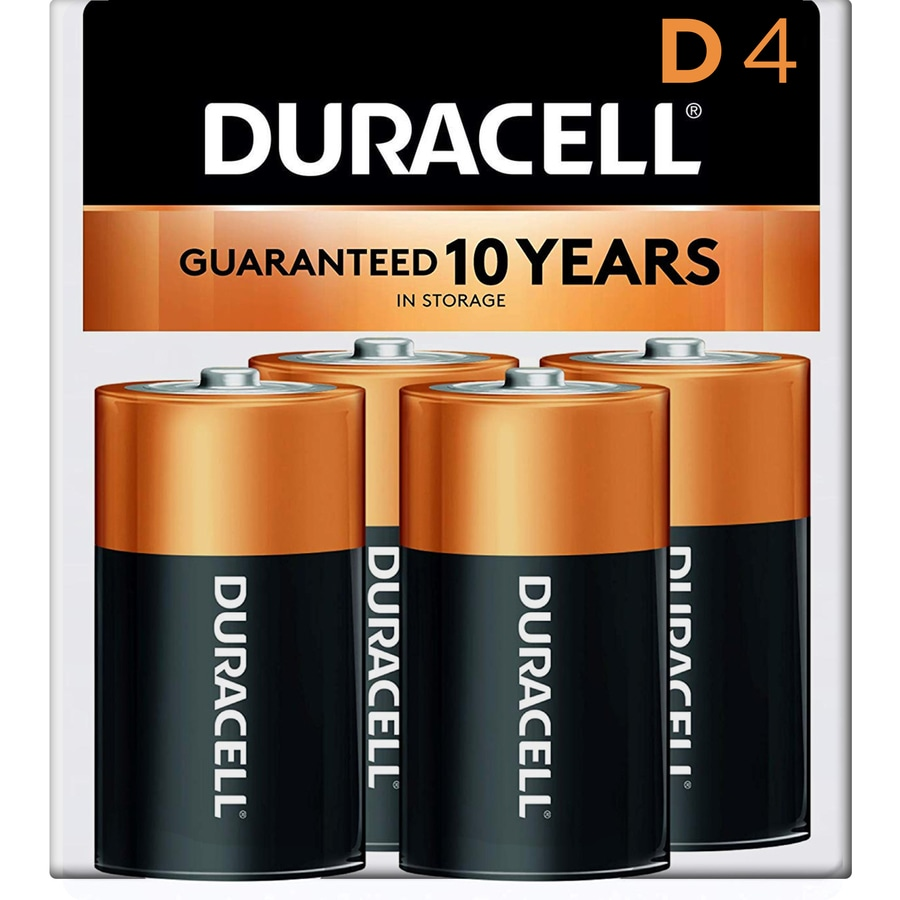 Duracell 4-Pack D Alkaline Batteries