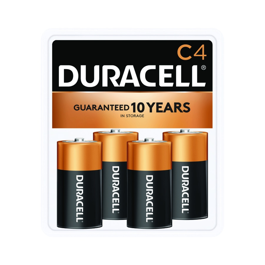 Duracell 4-Pack C Alkaline Batteries