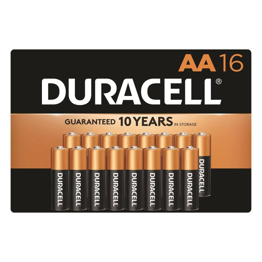 Duracell 16 Pack AA Alkaline Batteries
