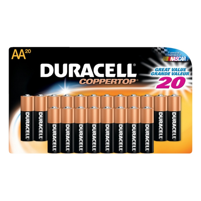Duracell 20 Pack Aa Alkaline Batteries In The Aa Batteries Department At Lowes Com