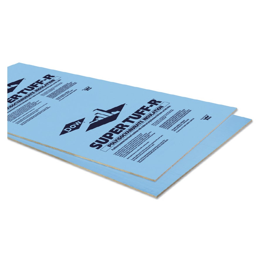 Dow Super Tuff R 40 Pack R6 5 Faced Polyisocyanurate Foam Board Insulation With Sound Barrier Common 0 In X 4 Ft 8 Actual