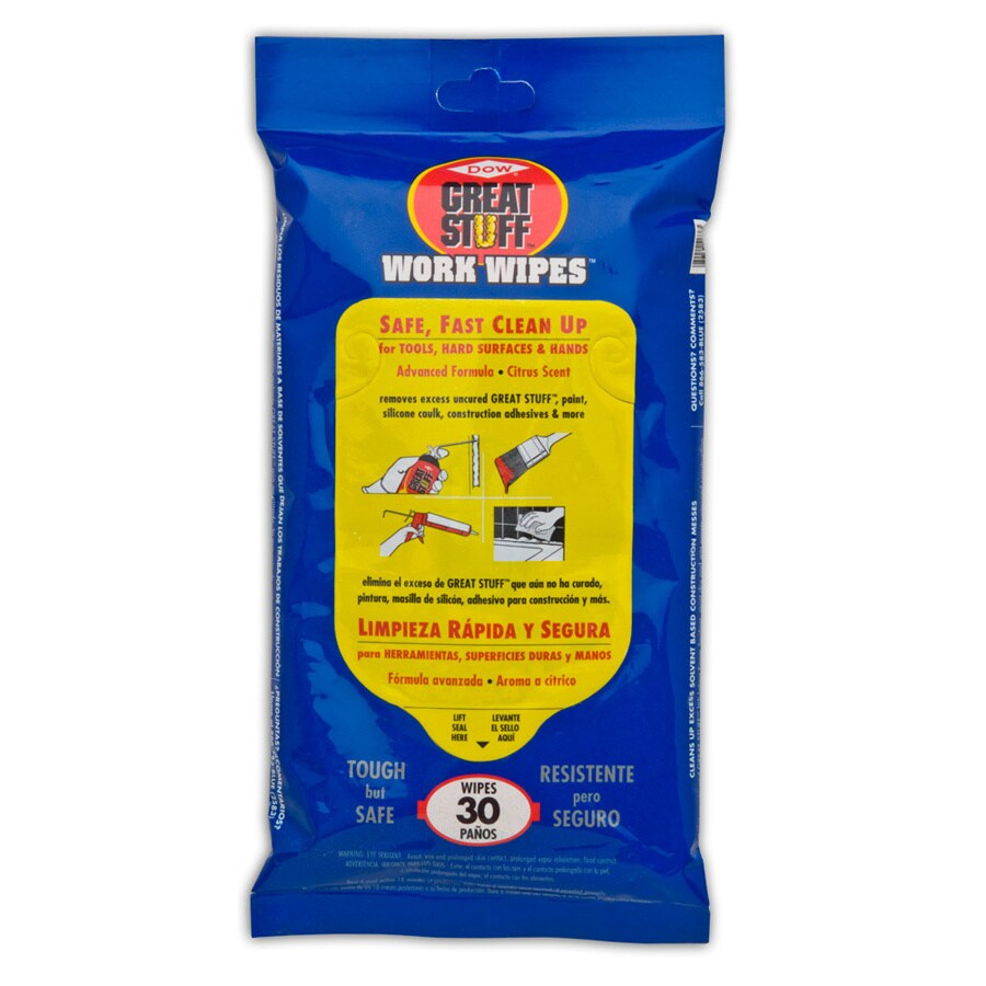 Dow Great Stuff 30-Count Work Wipes