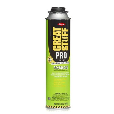 Dow GREAT STUFF PRO Pestblock 20-oz Spray Foam Insulation at