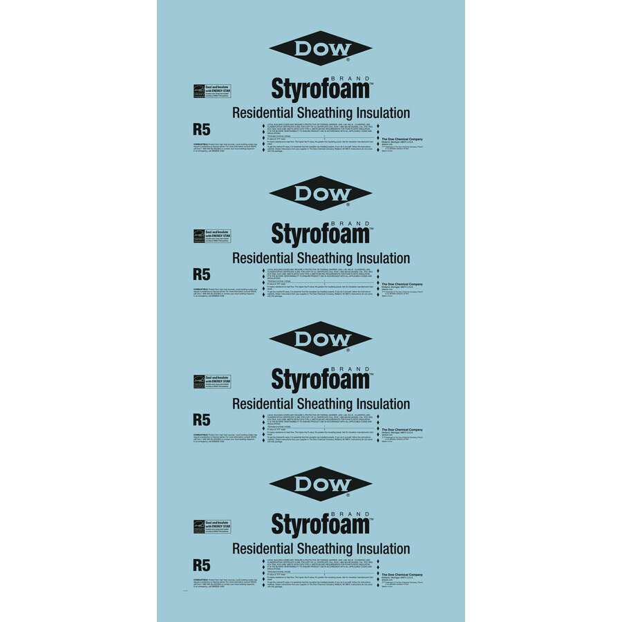 Dow Styrofoam R5 Faced Polystyrene Foam Board Insulation (Common: 1-in x 2-ft x 8-ft; Actual: 1-in x 2-ft x 8-ft)