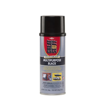 Dow GREAT STUFF Multipurpose Black 12-oz Spray Foam