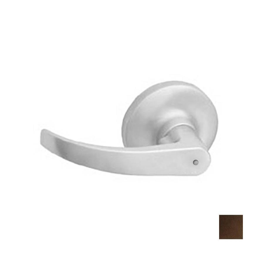 Hager 3500 Archer Antique Bronze, Oiled Push-Button Lock Privacy Door Lever