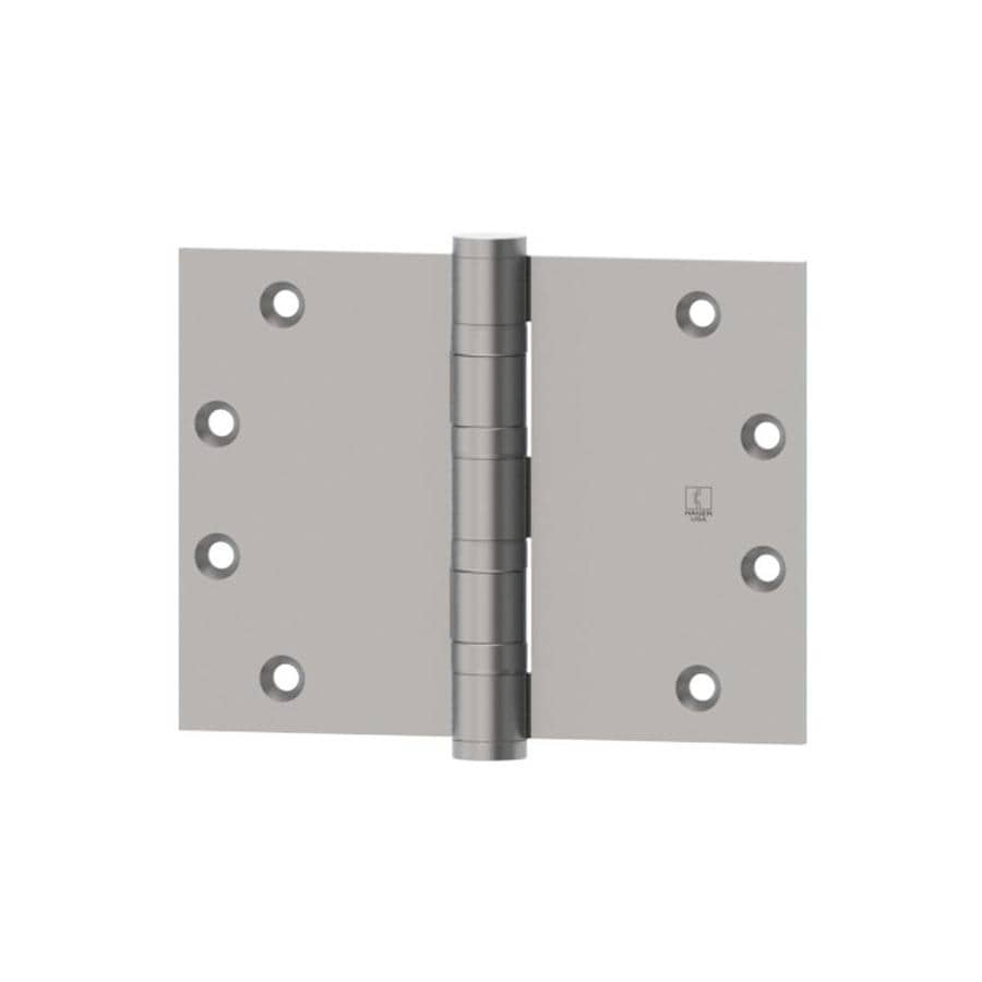 Hager 4-in H Satin Chrome Radius Interior/Exterior Mortise Door Hinge