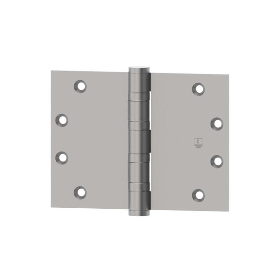 Hager 4.5-in H Satin Stainless Steel Radius Interior/Exterior Mortise Door Hinge