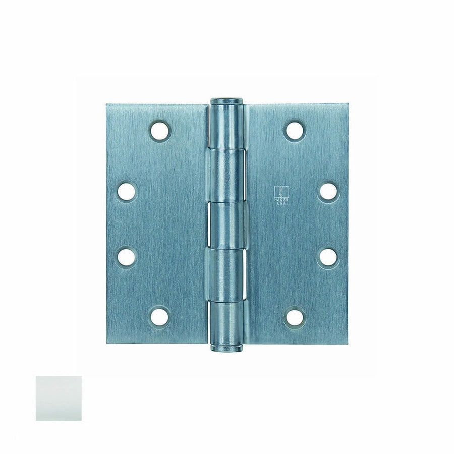 Hager 5-in H Satin Stainless Steel Radius Interior/Exterior Mortise Door Hinge