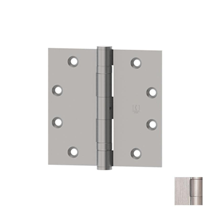 Hager 4.5000-in H Satin Stainless Steel Radius Interior/Exterior Mortise Door Hinge