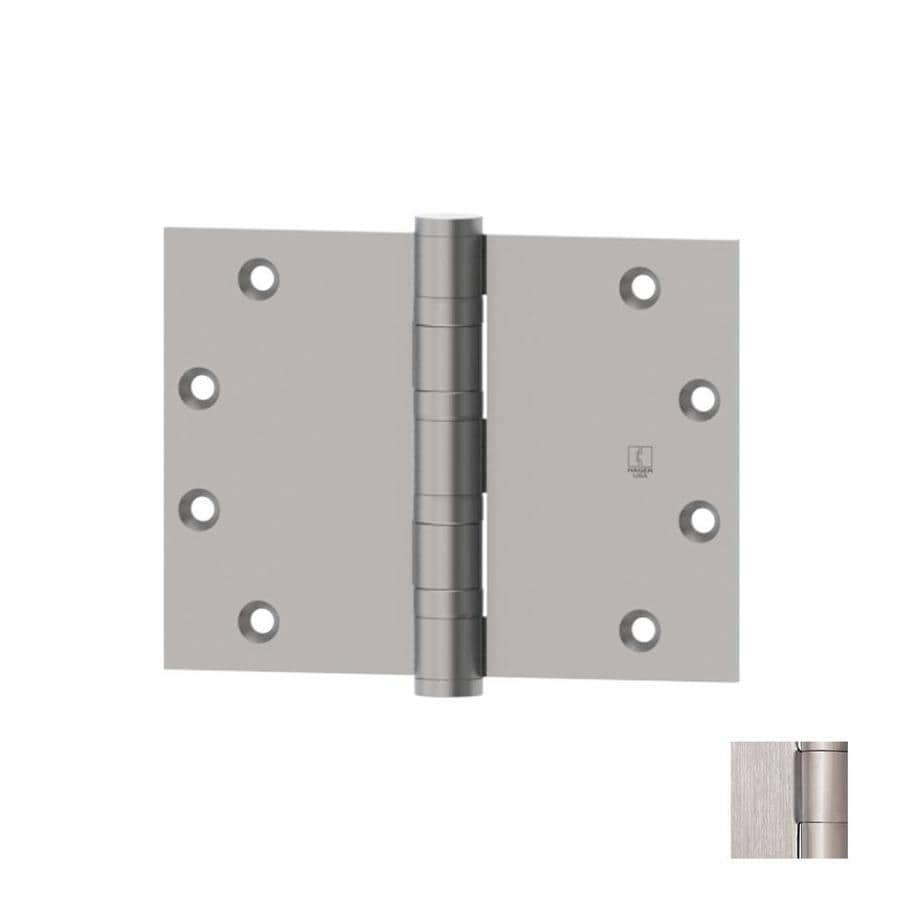 Hager 3.5-in H Satin Stainless Steel Radius Interior/Exterior Mortise Door Hinge