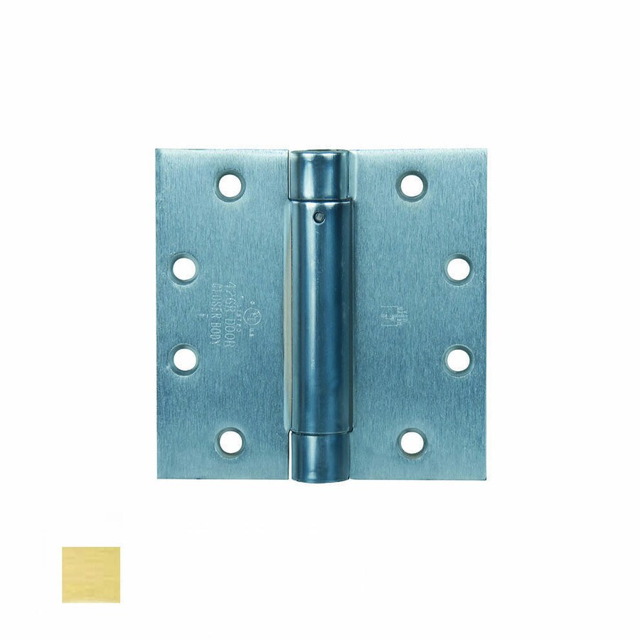 Hager 4.5-in H Satin Brass Radius Exterior Mortise Door Hinge