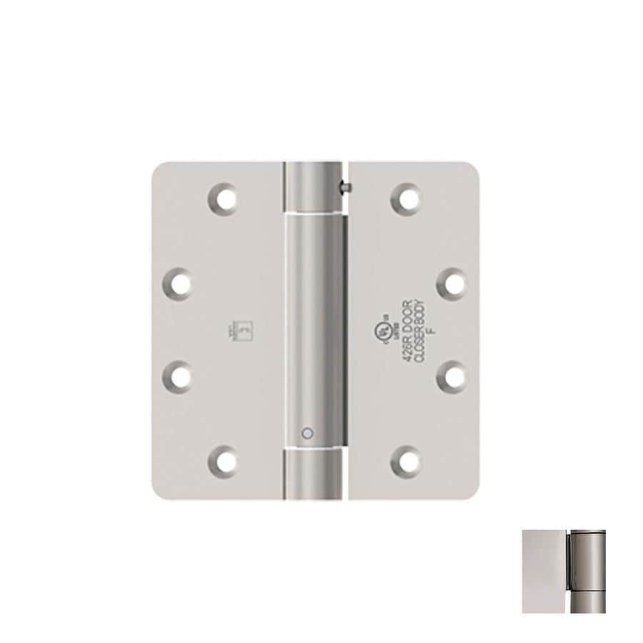 Hager 4-in H Polished Chrome 1/4-in Radius Interior Mortise Door Hinge